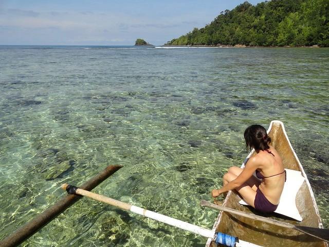 Aboard an Outrigger Canoe around Pulau Cubadak, Sumatra, Indonesia