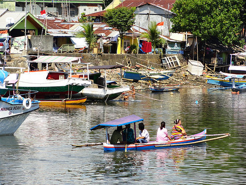 The canal on the North side of Manado Port in Sulawesi