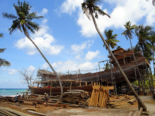 Phinisi Schooner Boat, Tanjung Bira, South Sulawesi, Indonesia