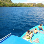 Travelling by Boat to Deserted and Unspoiled Beaches along the North-eastern Peninsula of Sulawesi in Indonesia