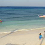 White Beach and Blue Waters in Pantai Bira Sulawesi Indonesia