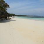 Walking on the White Beach of Pantai Bara in the Direction of Bira