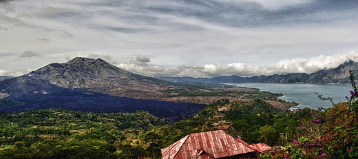 Gunung Batur Volcano with Danau Batur Lake, Bali, Indonesia