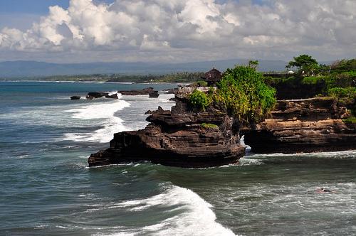 Coast of Bali North of Pura Tanah Lot Temple, Indonesia