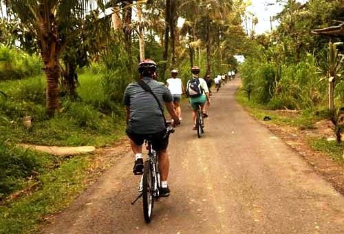 Easy Cycling in Bali: all Downhill and with NO Traffic!