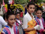 Festival on Jalan Monkey Forest in Ubud Bali