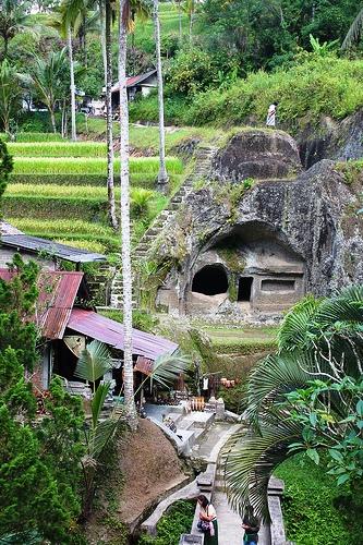 Gunung Kawi Temple and Rice Terraces in Tampaksiring, Bali, Indonesia
