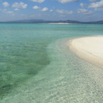 Sandbank near Pulau Bahuluang off Selayar Island in South Sulawesi in Indonesia