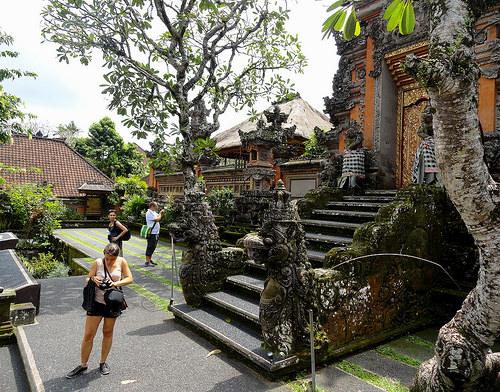 Pura Taman Saraswati Temple, Jalan Raya Ubud, central Ubud, Bali, Indonesia