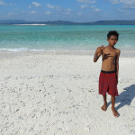 A Remote Sandbank a few miles off Pulau Bahuluang near Apatana in Selayar Island in South Sulawesi in Indonesia