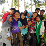 Young Indonesian boys and girls near Apatana in Selayar Island in South Sulawesi in Indonesia