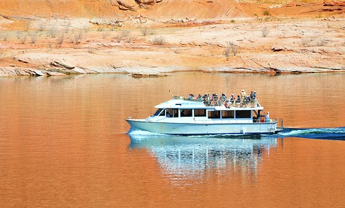 Cruise Boat in Lake Powell, Glen Canyon NRA, Arizona and Utah