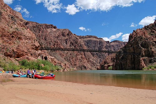 Phantom Ranch Boat Beach on the Colorado River in Grand Canyon National Park, Arizona