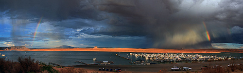 Lake Powell Storm from Lake Powell Resort and Marina, Arizona
