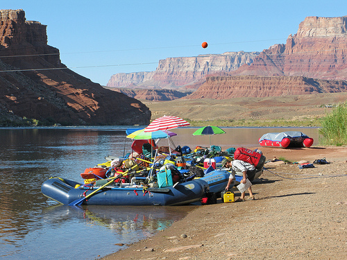 Lees Ferry Launch Ramp on the Colorado River in Grand Canyon NP, Arizona