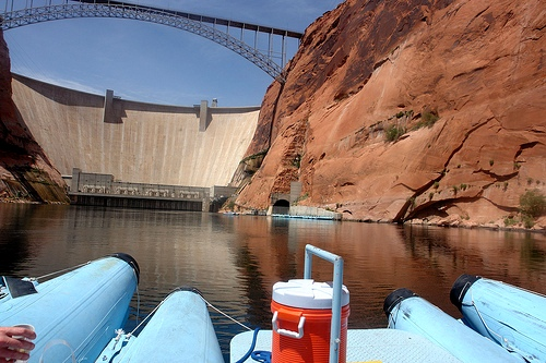 Rafting Trip on Colorado River Starting at Glen Canyon Dam, Page, Arizona