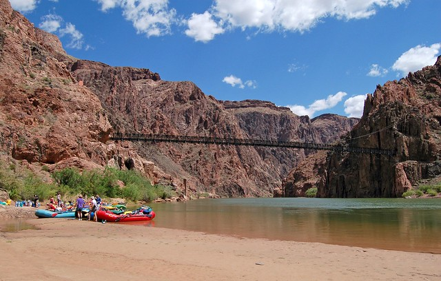 Phantom Ranch Boat Beach on the Colorado River in Grand Canyon National Park, Arizona