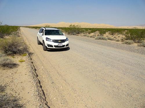Kelso Dunes Road in the Mojave Preserve in California