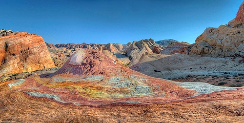 Palette Hill or Crazy Hill in Valley of Fire State Park in State of Nevada