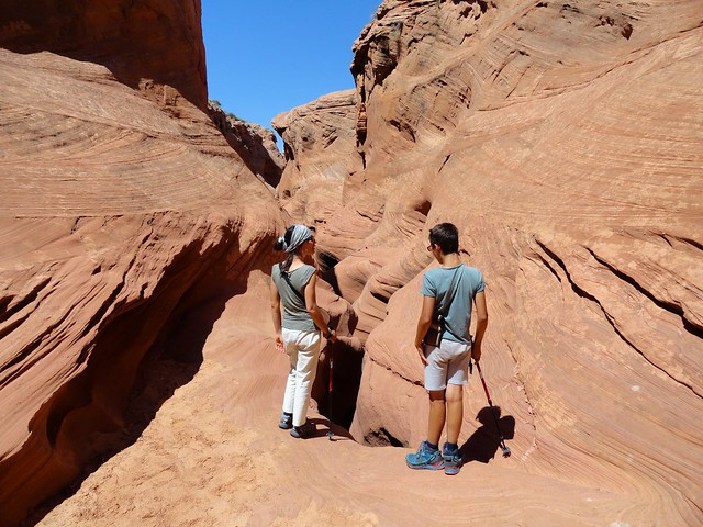 Who Goes First? East Side Slot Entrance, Waterholes Canyon, Page, Arizona