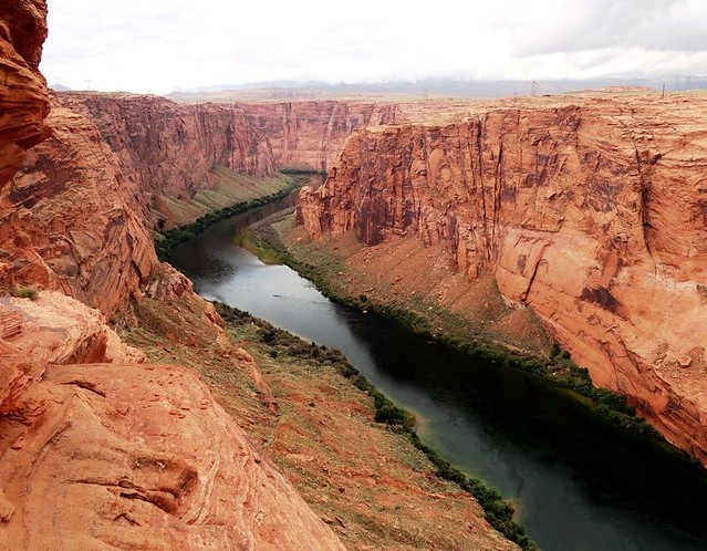 Colorado River from Dam Overlook, Glen Canyon NRA, Page, Arizona