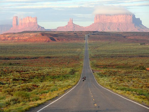 Forrest Gump Point north of Monument Valley in Utah