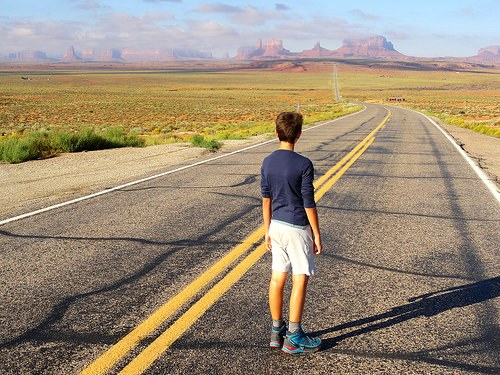 Forrest Gump Point, the road where Forrest Gump decided to stop running! This is US 163, Monument Valley, Utah