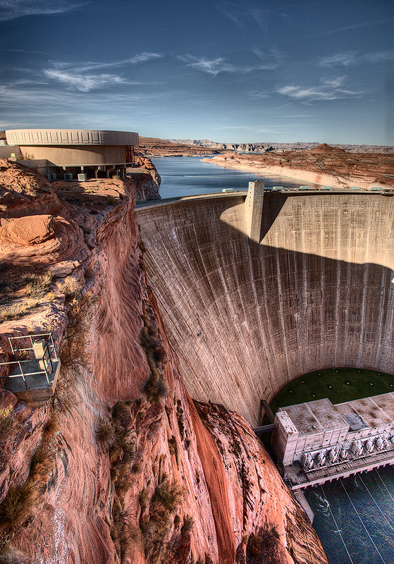 Glen Canyon Dam & Carl Hayden Visitor Center, Page, Arizona