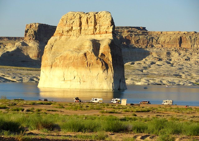 Lone Rock Beach on Lake Powell in Glen Canyon National Recreation Area near Page