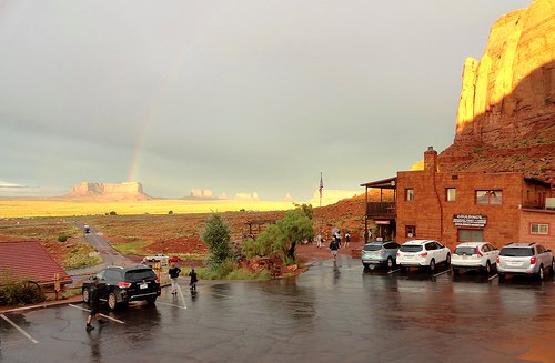 View of Monument Valley from Gouldings Lodge