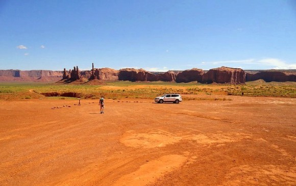 Near Totem Pole in the Monument Valley