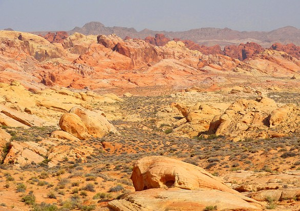 From the road near Rainbow Vista looking North, Valley of Fire State Park, Nevada