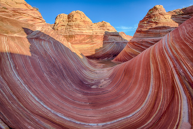 The Wave in Vermilion Cliffs National Monument in Arizona