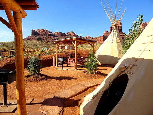 Tipi Village near Goulding's Lodge, Monument Valley