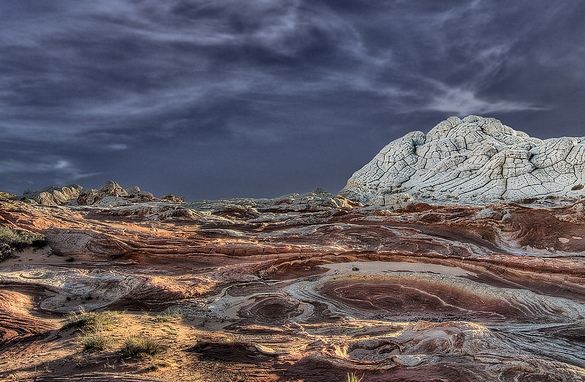 View of White Pocket, Vermilion Cliffs National Monument, Arizona