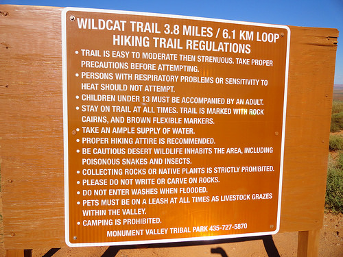 Wildcat Trail in Monument Valley, Navajo Tribal Park