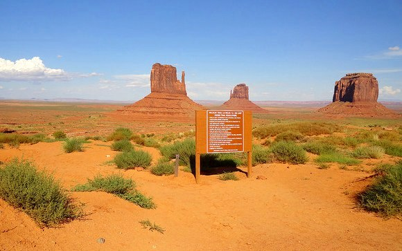 Wildcat Trail Trailhead Monument Valley Navajo Tribal Park