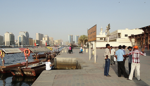 From Bur Dubai looking to The Creek and Deira, Dubai, United Arab Emirates