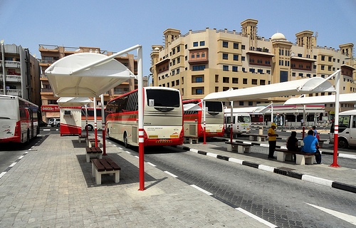 Al Ghubaiba Bus Station in Bur Dubai, Dubai, United Arab Emirates