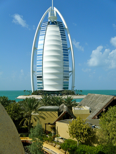 Burj Al Arab from Wild Wadi Waterpark, Dubai, United Arab Emirates