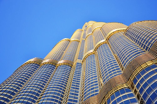 Burj Khalifa from the Bottom, Downtown Dubai, Dubai, United Arab Emirates