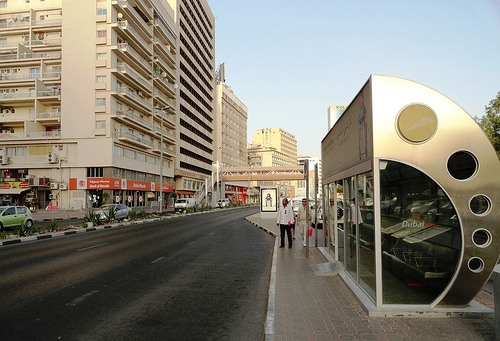 Bus Stop in Deira, Dubai, United Arab Emirates