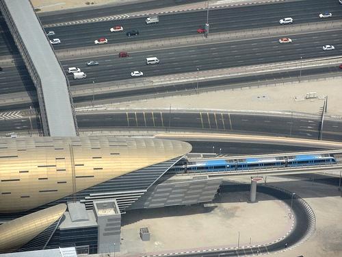Burj Khalifa Metro Station from Burj Khalifa, Dubai, United Arab Emirates