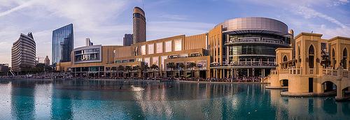 Dubai Mall and Khalifa Lake, Downtown Dubai, United Arab Emirates