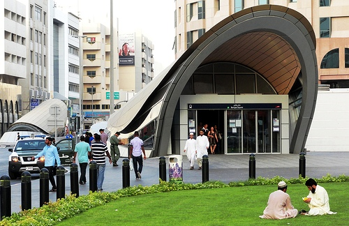 Dubai Metro Station in Deira, Dubai, United Arab Emirates