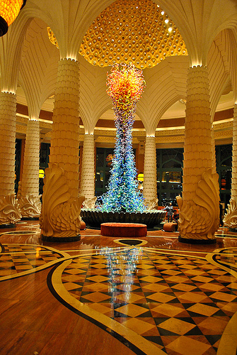 Interior, Atlantis The Palm, Palm Jumeirah, Dubai, United Arab Emirates