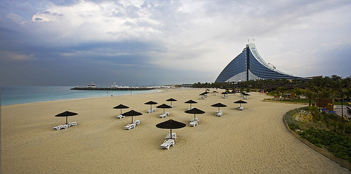Jumeirah Beach in a Cloudy Day, Dubai, United Arab Emirates