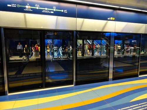 Khalid Bin Waleed (Burjuman) Metro Station, Bur Dubai, Dubai, United Arab Emirates