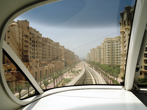 Palm Monorail to Palm Jumeirah, Dubai, United Arab Emirates