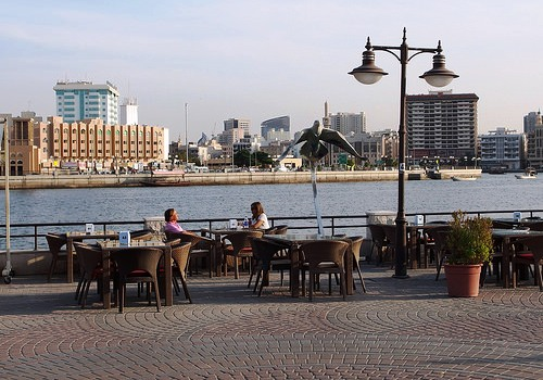 Shindagha Riverfront and the Creek, Bur Dubai, Dubai, United Arab Emirates